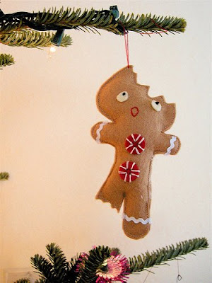 homemade christmas ornament flet gingerbread man