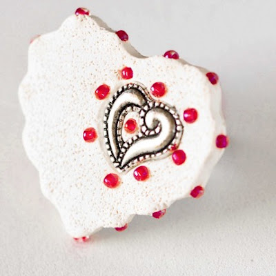 white heart valentines day ring jewelry