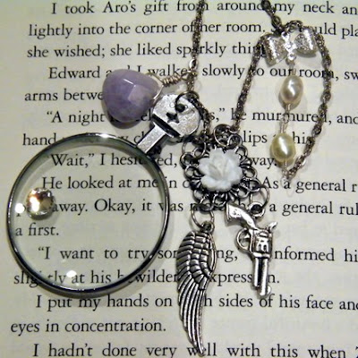 alice jasper twilight inspired necklace