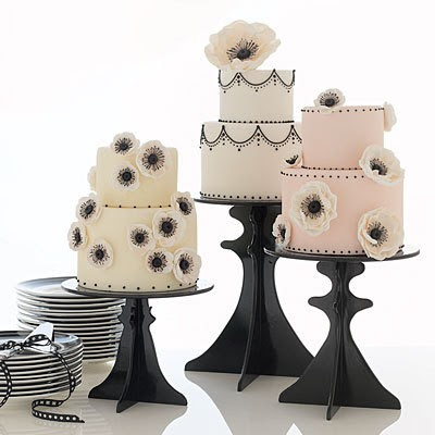 cherry blossom cake boutiqe cake stands black pink