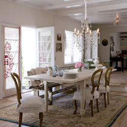 elegant shabby chic dining table