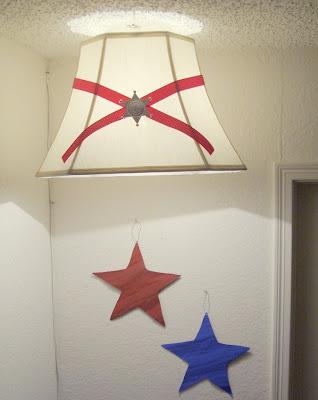 western cowyboy theme boys room star lighting