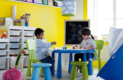 ikea mammut blue toddler children table