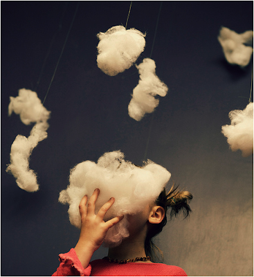 fine art photography, ben doo dat, clouds, surreal, sky girl, dreaming, photo