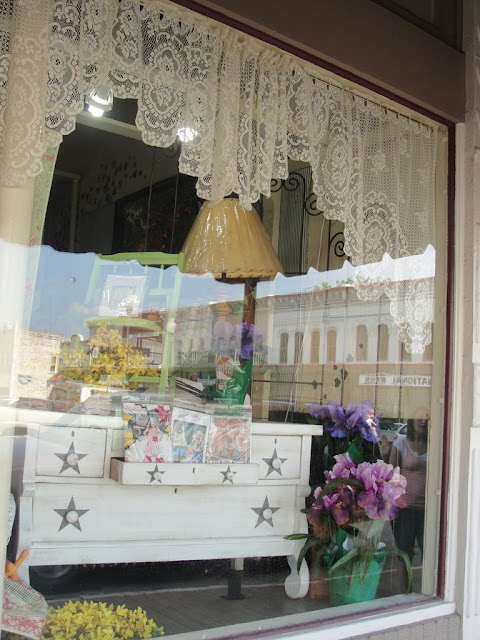 granbury window shabby cottage store display