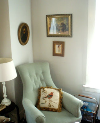 vintage mint green chair