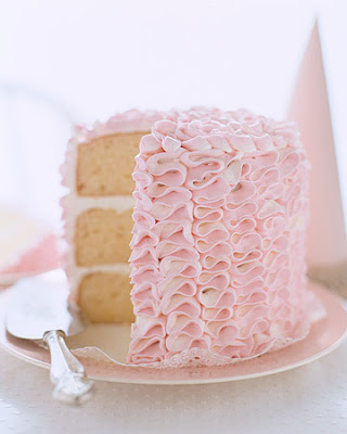 pink ruffle cake