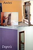 Antes e depois de minha casinha