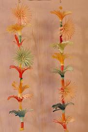 guirlande de fleurs en osier