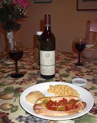 A wine dinner