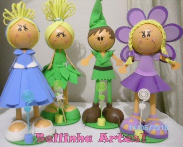 Cinderela,Sininho,Peter pan e menina Flor!