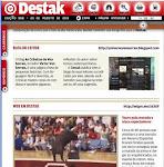 Matéria do Crônicas no  jornal Destak