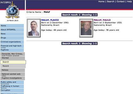 Paulo Maluf é procurado pela Interpol