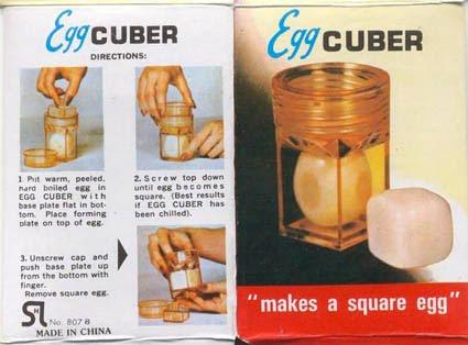 Ovo em forma de cubo