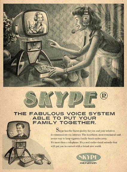 Anúncio Vintage Skype
