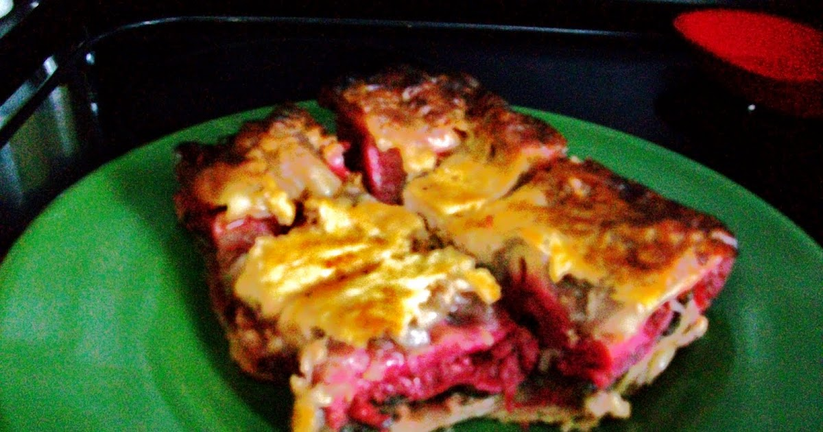 ... Carnivore: Beetroot, Caramelized Red Onion & Spinach Lasagna