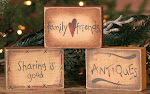 Family Friends ~ Wood Blocks ~ $5.45