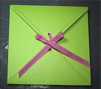 Ribbon Envelope tutorial by Wendy