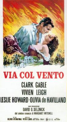 un cartel italiano de GWTW