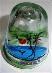 vidrio soplado con imagen marina