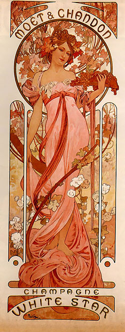alphonse mucha tattoo. aga art mucha background