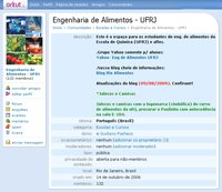 Eng de Alimentos UFRJ - Orkut