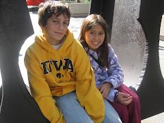 Nathan & Phoebe at Millenium Park