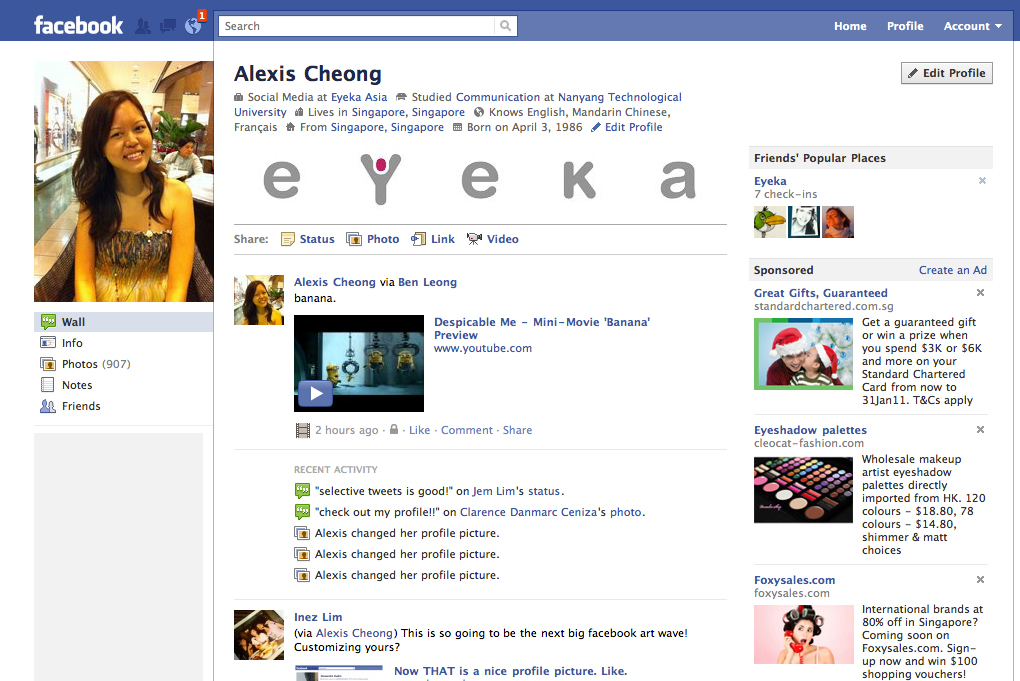 alexis blogs: How to create your own customized Facebook profile