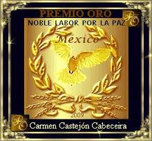 PREMIO ORO por la noble labor por la paz
