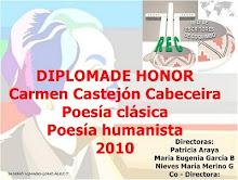 Diploma de honor para Carmen Castejón en Rec por Poesía Clásica y humanista 2010