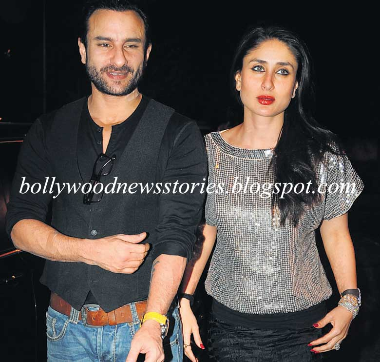 Kareena Kapoor with beau Saif Ali Khan on their way back from Midnight ...