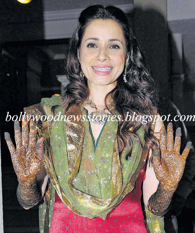 Latest News: Neelam Kothari Mehendi/Mehndi Ceremony Pictures