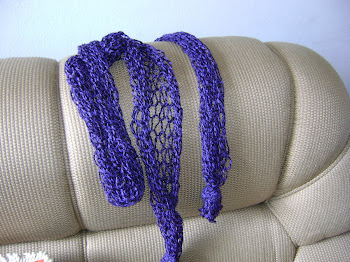 cachecol de rede roxo