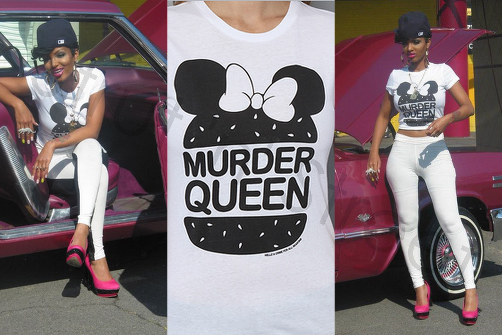 Lola Monroe Hairstyles Lola monroe spotted in hellz bellz murder queen t shirt overtime