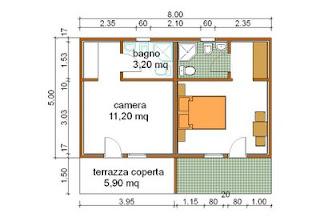 Progetti di case in legno casetta doppio bungalow 20 mq for Fantastici disegni di bungalow