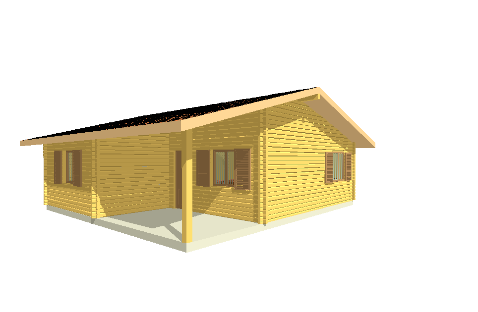 Progetti di case in legno casa 60 mq utili portico 12 mq for Progetti di piani portico proiettati