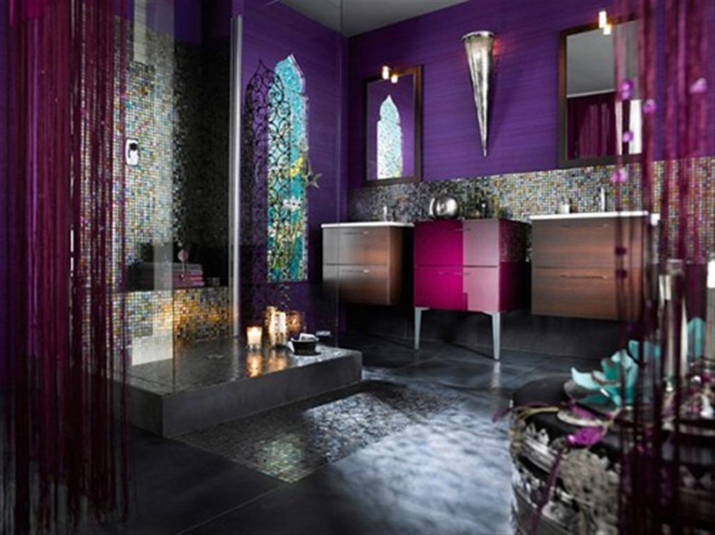 Bathroom design beautiful full color bathroom for Colourful bathroom ideas