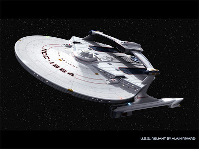 star trek wallpaper, starship Reliant wallpaper, Alain Rivard