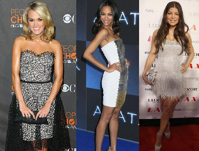 Carrie Underwood Zoe Saldana Fergie fashion image