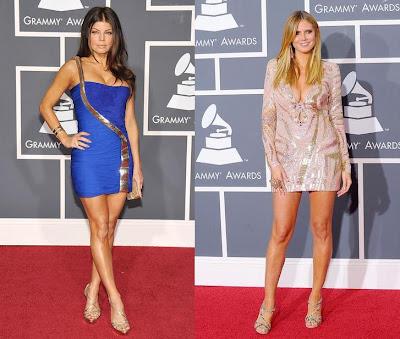 2010 Grammy Fergie and Heidi Klum
