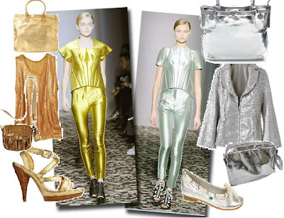 Siver and Gold metallic Fashion trend