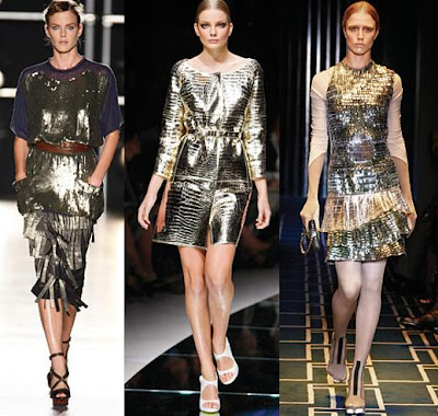Metallic Fashion Models