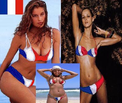 France Flag Bikini