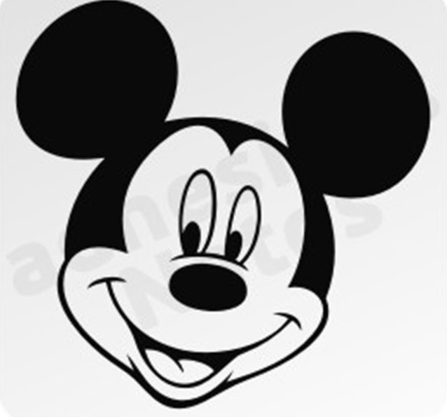 Molde cara de Mickey Mouse - Imagui