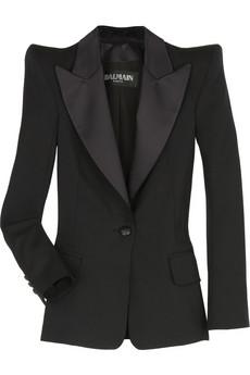 [Balmain+Tuxedo+Jacket+via+netaporter]