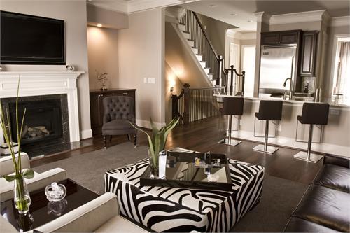 Zebra ottoman t a n y e s h a for Living room zebra design