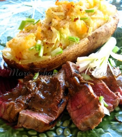 more than burnt toast: Grilled Guinness Marinated Steak ...