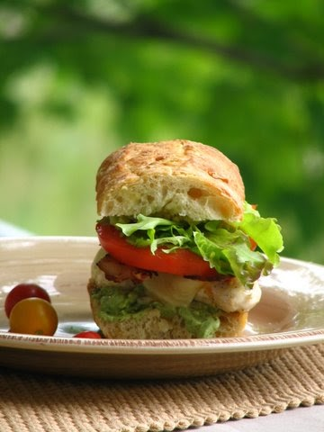 more than burnt toast: Grilled Chicken Club with Garlic Pesto ...
