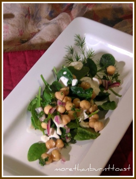 more than burnt toast: Chickpea and Spinach Salad with Cumin for My ...