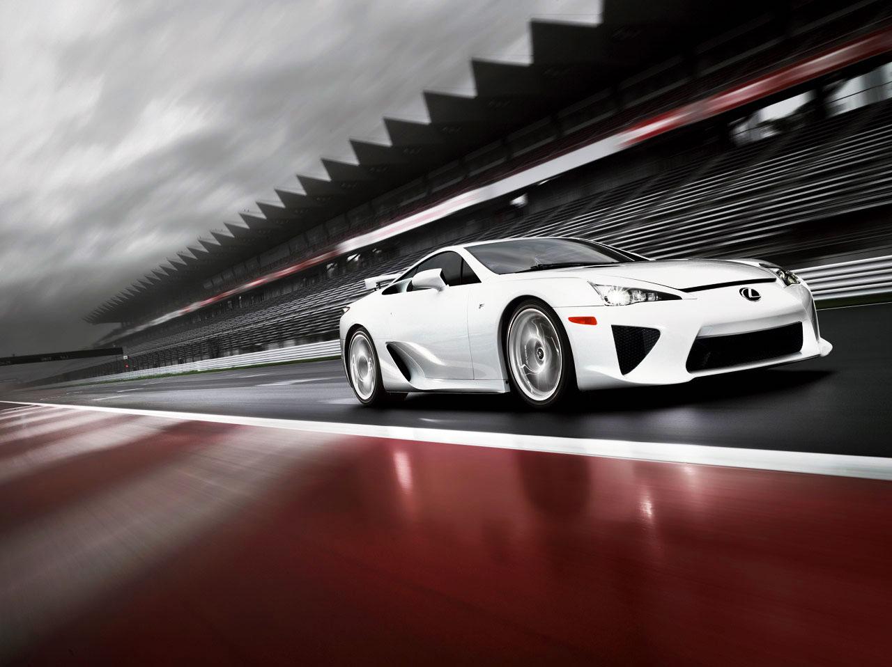 The Lexus LFA Supercar is